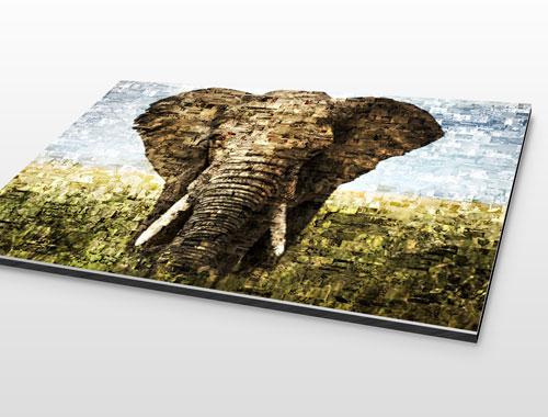 Alu-Dibond Photo Mosaique