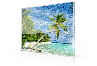Photo mosaique Plexiglas plage petite