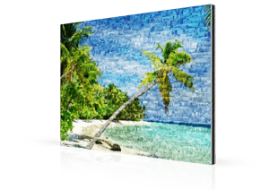 Photo mosaique alu plage petite