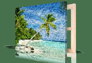Photo mosaique toile plage petite