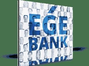 Photo mosaique d'une banque