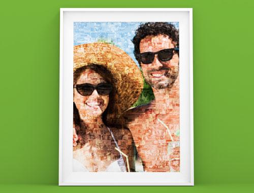 Poster Photo Mosaique