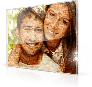 Mosaique photo Plexiglas couple