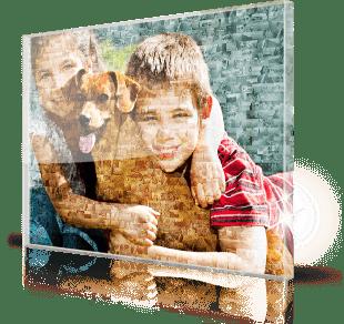 Mosaique photo Plexiglas enfants