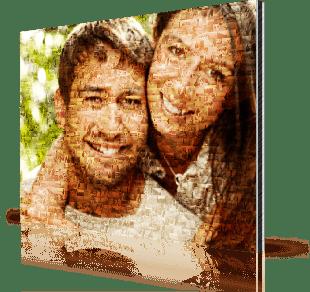 Mosaique photo alu couple