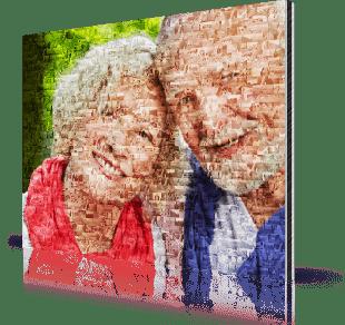 Mosaique photo alu séniors