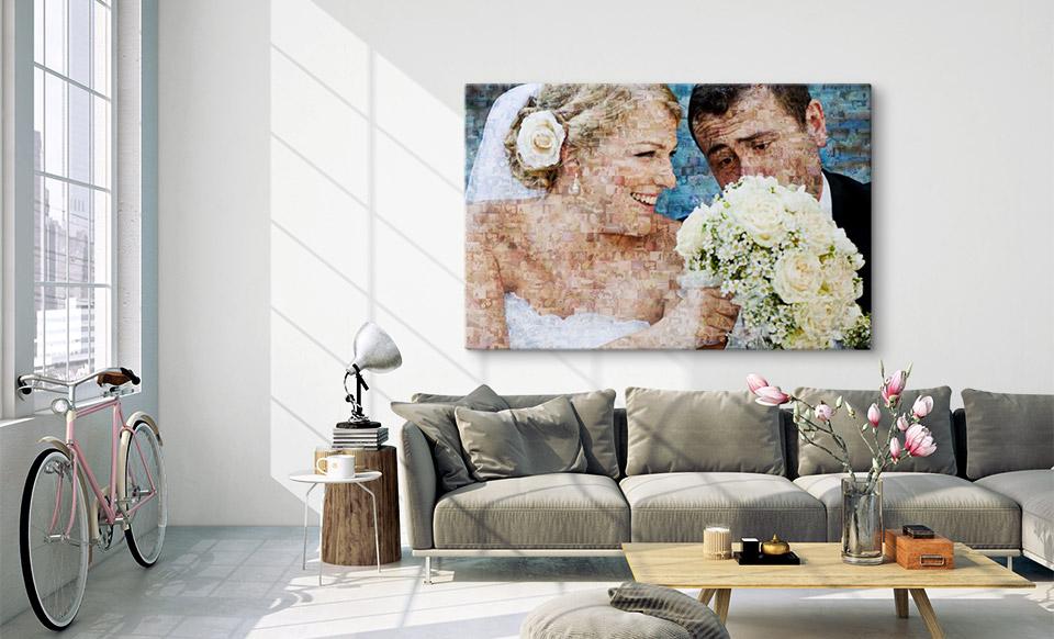 mosaique photo en ligne salon