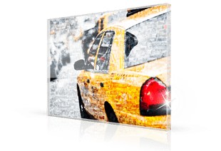Mosaique photo plexiglas taxi petit