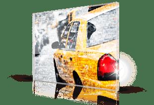 Mosaique photo plexiglas taxi petit