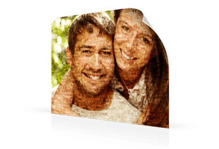 Mosaique photo poster couple petit
