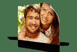 Mosaique photo poster couple petit