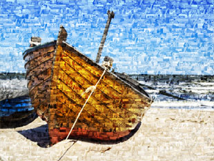 photo mosaique bateau