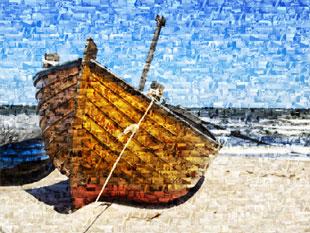 photo mosaique bateau