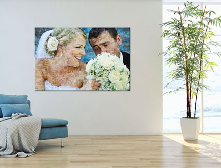 Séjour photo mosaique_jeunes mariés
